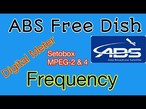 ABS Free MPEG 2 and MPEG 4 Dish Frequency of Setobox and you can also add digital satellite Meter