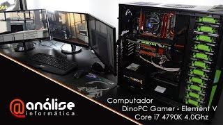 Montando um pc Computador DinoPC Gamer Element V Core i7 4790K 4 0Ghz