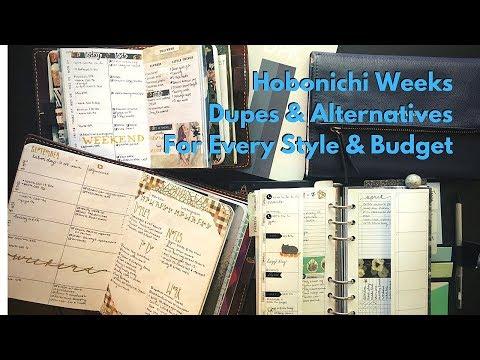 Hobonichi Weeks Dupes and Alternatives