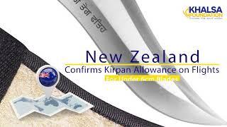 Kirpan allowed on flights leaving from New Zealand