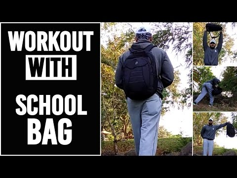 Full Body Workout With Backpack | Workout Anywhere Without Weights