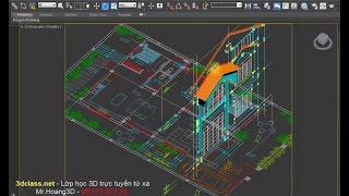 hoc 3dmax vẻ villa từ cad 3dclass net mrhoang 0907707728 lớp 3d từ xa online