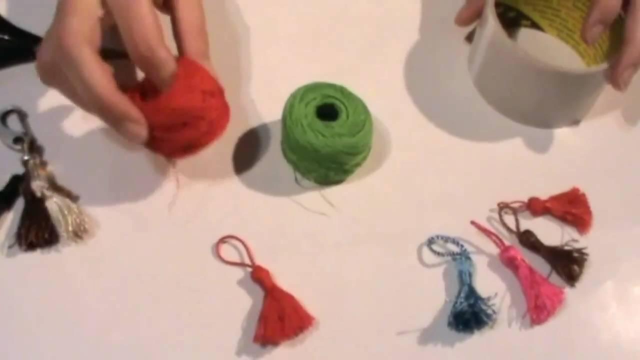 Manualidades como realizar borlas o flecos youtube - Como hacer borlas de hilo ...