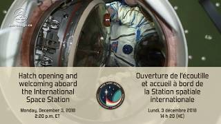 LIVE – Hatch opening and welcoming aboard the ISS - Part 1