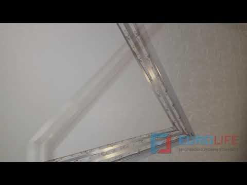 Натяжная стена из фактурных полотен