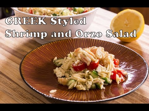 Greek Style Shrimp And Orzo Salad