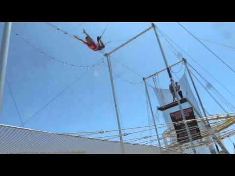Trapeze class on the Santa Monica Pier