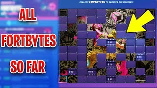 TOUS LES EMPLACEMENTS FORTBYTE SO FAR - TILL PATCH 9.10 (Fortnite)