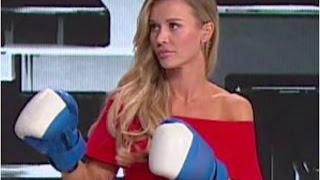 Tego nie było w telewizji! Joanna Krupa w rękawicach bokserskich biła Marcina i Dawida [Top Model]