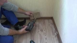 видео Установка плинтусов