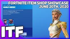 Fortnite Item Shop *NEW* A LOT OF STUFF! [June 20th, 2020] (Fortnite Battle Royale)