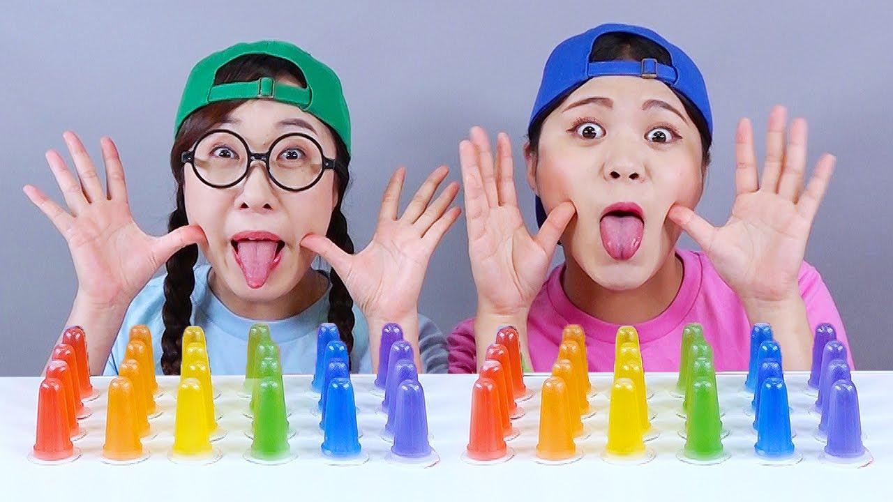Download Homemade Merong Neh Boo Jelly Mukbang 메롱젤리 먹방 DONA 도나