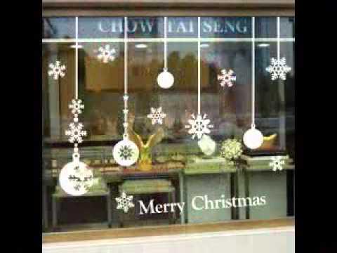Christmas window decorating ideas - YouTube