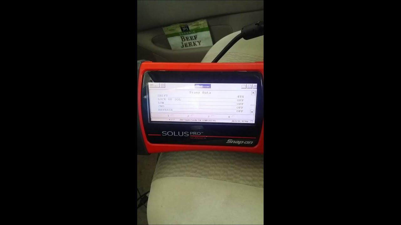 Torque Converter Solenoid >> 2007 Toyota Corolla A245e P0741 lock up failure - YouTube