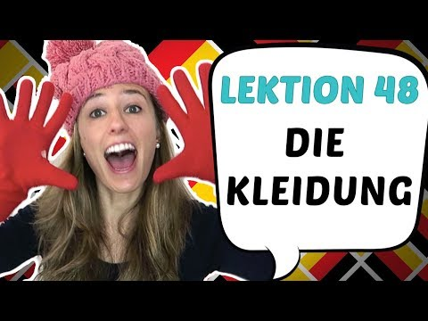 GERMAN LESSON 48: German Vocabulary of CLOTHES! 👕 👖 👔 👗👠