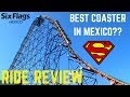 Gambar cover Superman El Último Escape Ride Review - Best Roller Coaster In Mexico?? - Six Flags Mexico