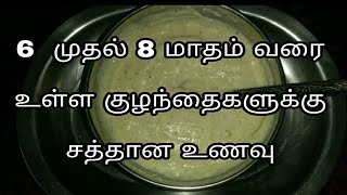 6 to 8 month baby food( Breakfast)/Baby food/Baby food recipe/healthy baby food recipe/easy babyfood