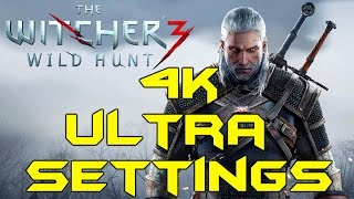 WITCHER 3 PC 4K ULTRA GRAPHICS (Titan X Max Settings Gameplay)