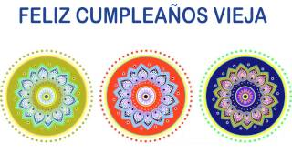 Vieja   Indian Designs - Happy Birthday