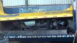 Crushing cars with Overbuilt High Speed Car Wrecker