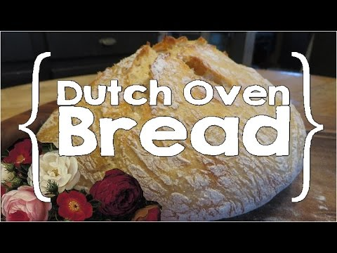 Easy Dutch Oven Bread (Large Family Cooking)
