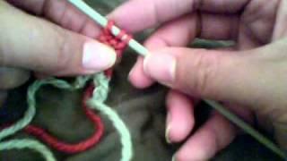 Garter stitch tab for lace shawls - Haruni