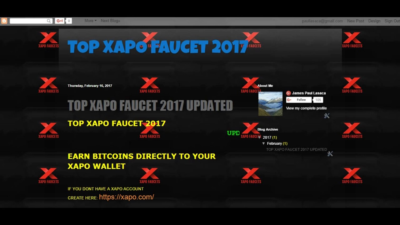 XAPO FAUCET UNLIMITED BITCOIN WEBSITES 2017 - YouTube