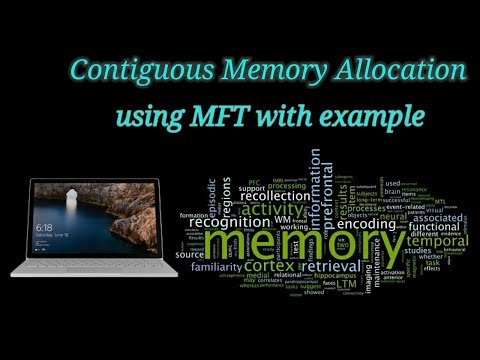 Contiguous memory allocation in OS using Multiprogramming Fixed Task (MFT) with algorithm & example.