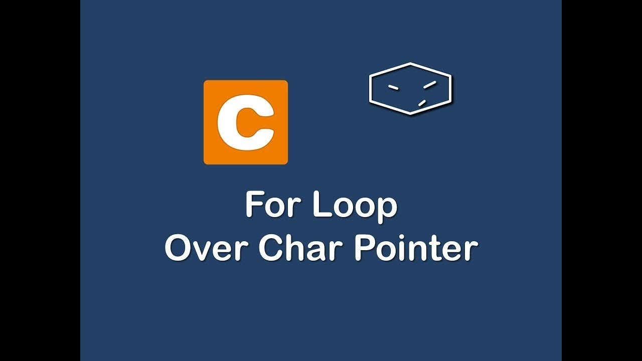 for loop over char pointer in c