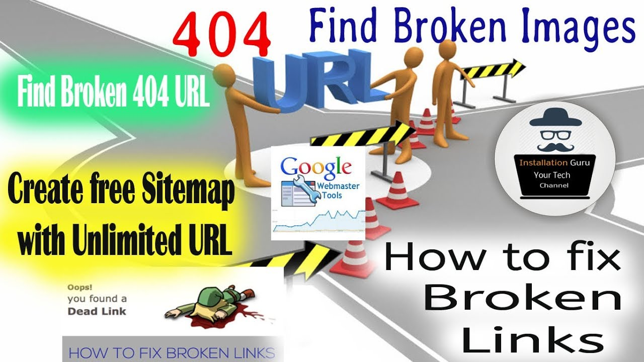 how to find broken images on website how to create xml sitemap