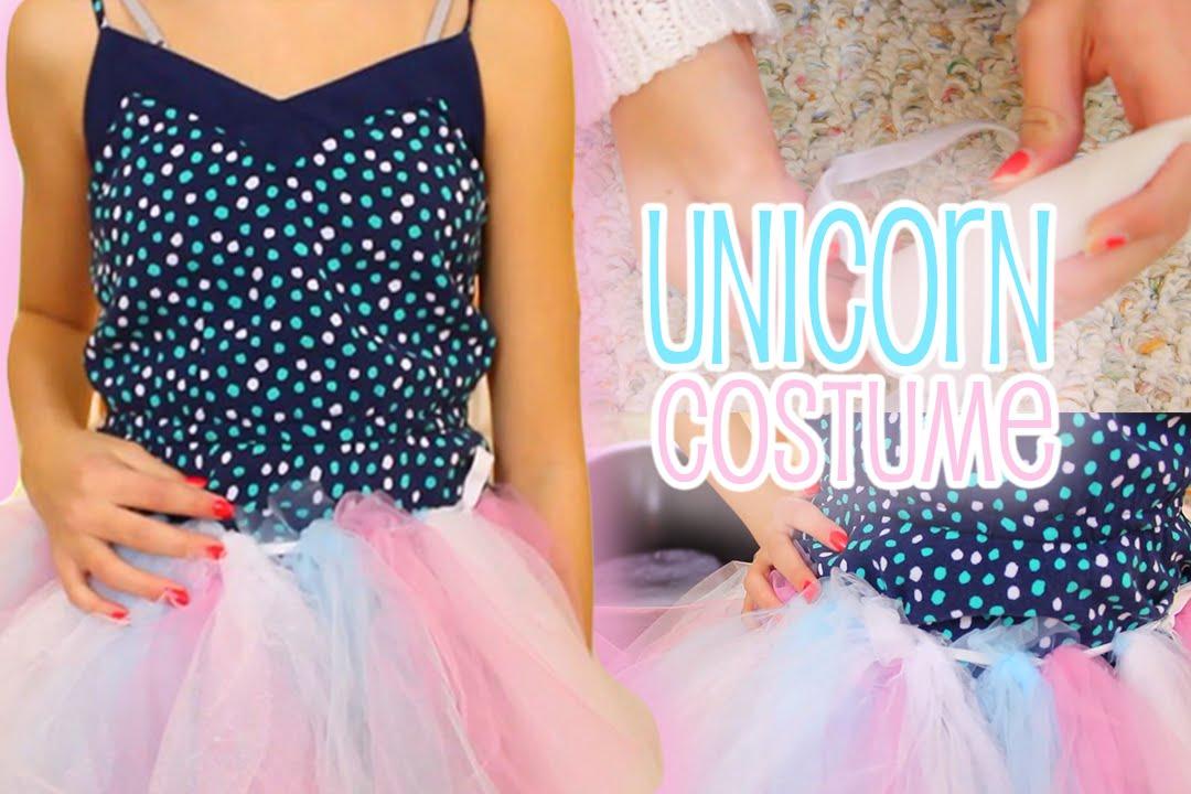 Diy unicorn halloween tutorial easy costume youtube solutioingenieria Choice Image