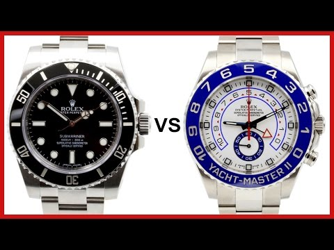 ▶ Rolex Submariner black vs. Yacht-Master II white-blue COMPARISON