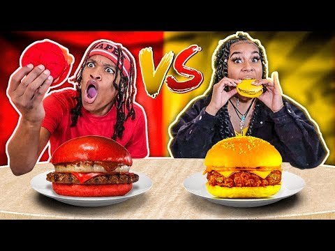 RED FOOD VS