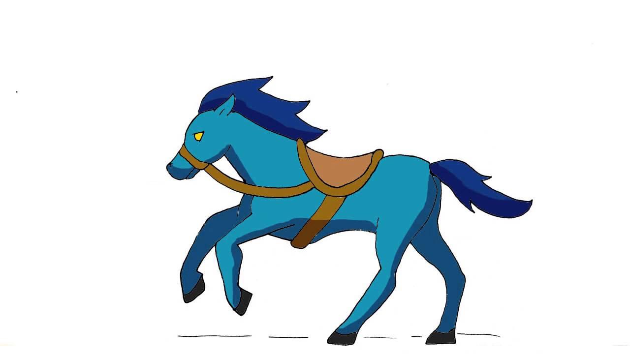 Caballo Azul Corriendo Youtube