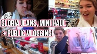 Gloria jeans, mini haul + public vlogging!