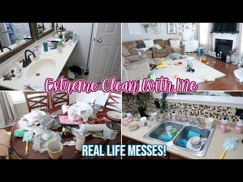 EXTREME CLEAN WITH ME | SUPER MESSY HOUSE CLEANING MOTIVATION
