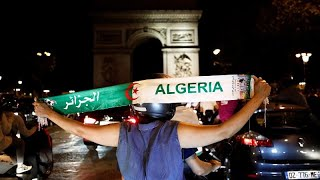 Euforia entre los argelinos de Francia tras la final de la Copa Africana de Naciones