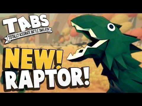 TABS - RAPTORS! NEW JURASSIC FACTION! Dinosaur Units - Totally Accurate Battle Simulator Updates
