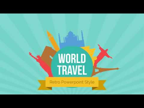 Retro Travel Powerpoint Template Youtube