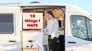 10 Things I HATE about Living in a Van (an Honest Conversation About #vanlife)