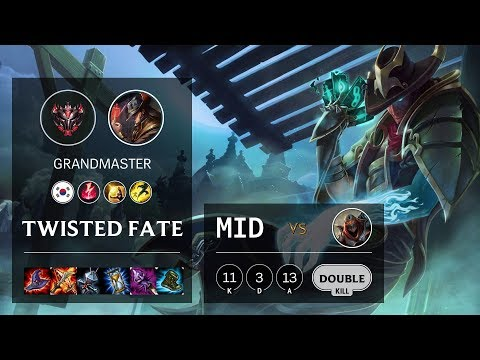 Twisted Fate Mid vs Zed - KR Grandmaster Patch 10.9