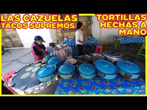Las CAZUELAS de TENANCINGO - Tacos de guisado con TORTILLAS HECHAS A MANO