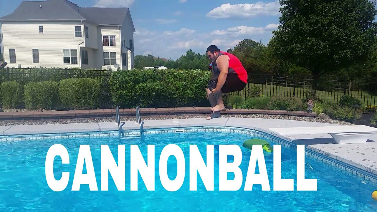 pool splash cannonball. CANNONBALL INTO THE POOL! Pool Splash Cannonball