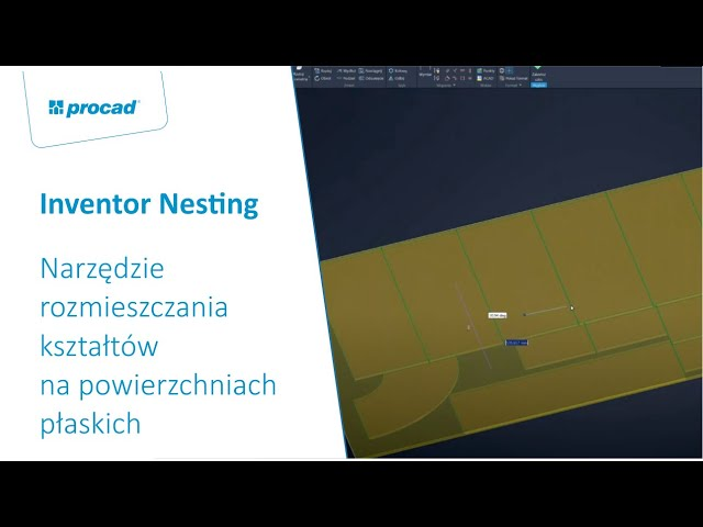 Inventor Nesting – narzędzie rozmieszczania kształtów na powierzchniach płaskich