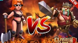 👊Valquiria VS Rey Barbaro👊 |Clash Of Clans| 2016