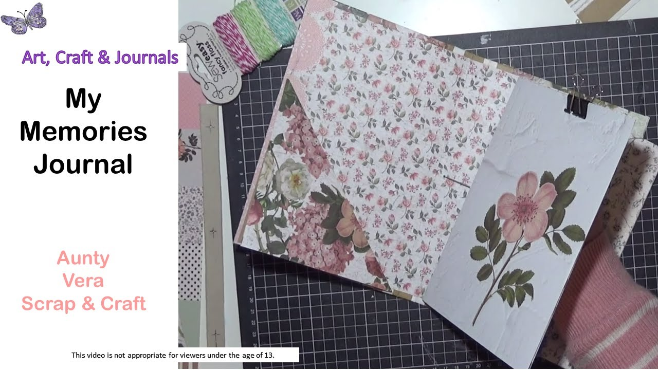 Memories Journal Aunty Vera Scrap And Craft Creative Team Project Youtube