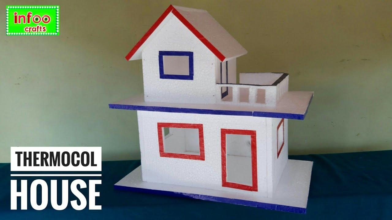 Diy Thermocol House Thermocol Craft For School Project Best Out