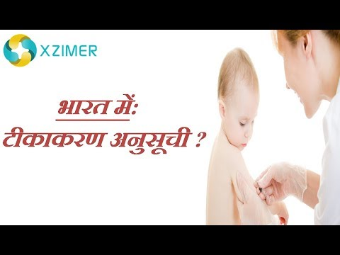 Vaccination schedule in India(भारत में टीकाकरण अनुसूची)
