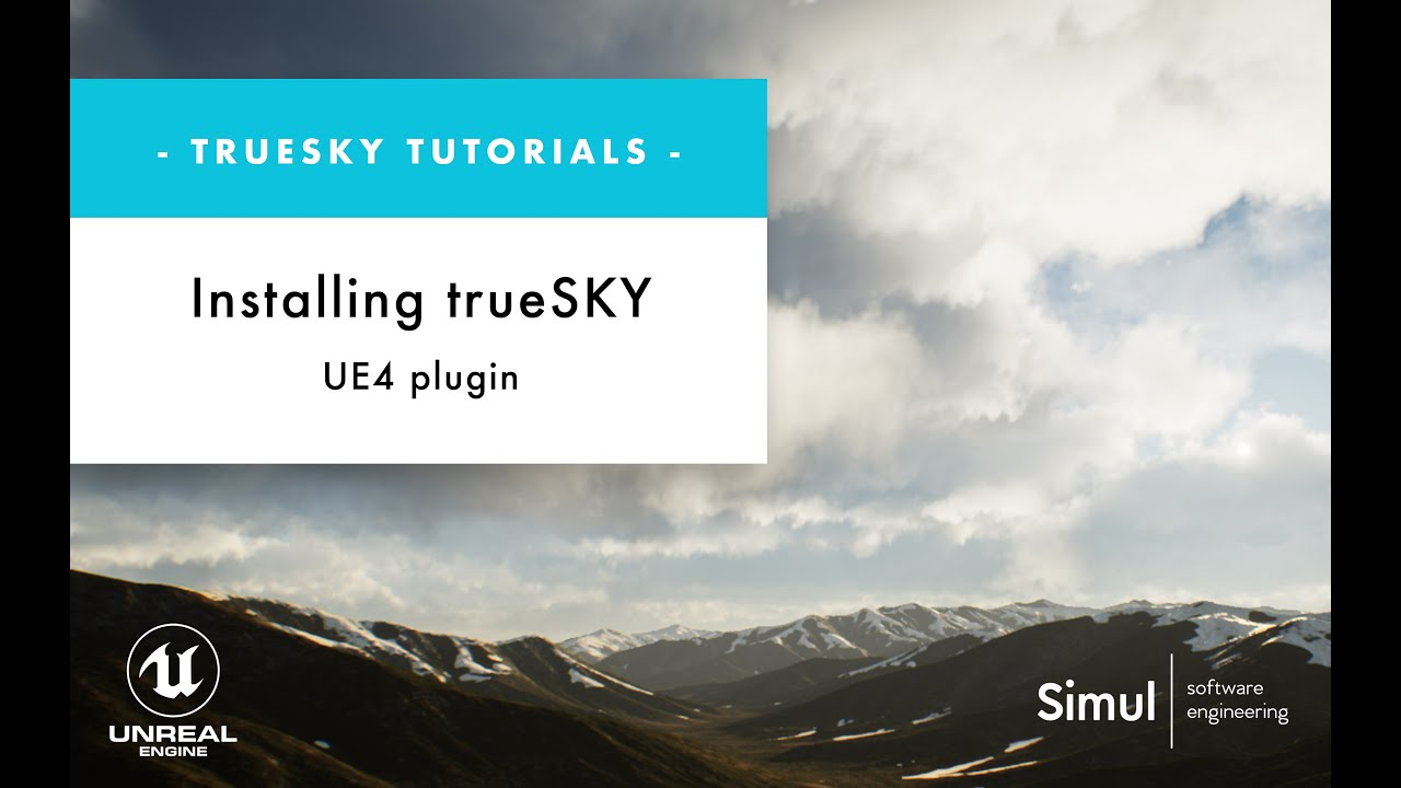 How to install trueSKY plugin in UE4