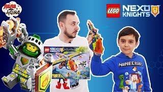 Папа Роб и Ярик продолжают собирать конструктор LEGO NEXO KNIGHTS Аэро арбалет Аарона Арт. 72005